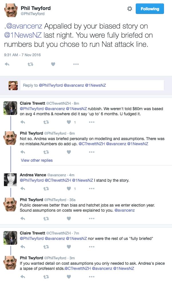 Twyford vs pol journos