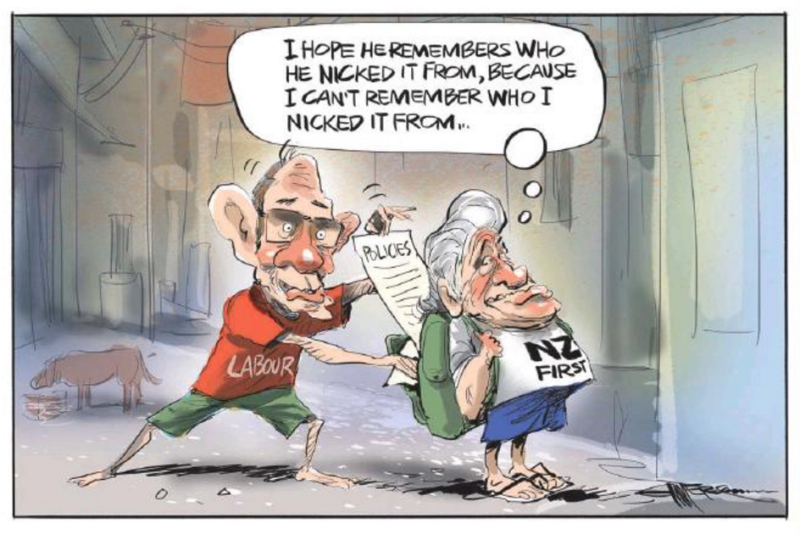 Emmerson - NZ Herald 13 August 2016 NZ First Winston Peters LIttle Labour