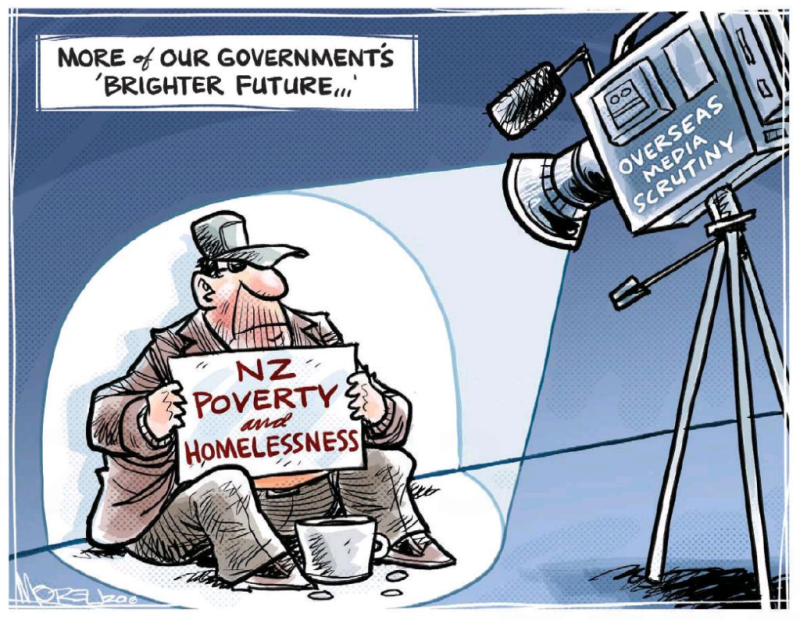 Moreu - Timaru Herald 26 August 2016 poverty media inequality