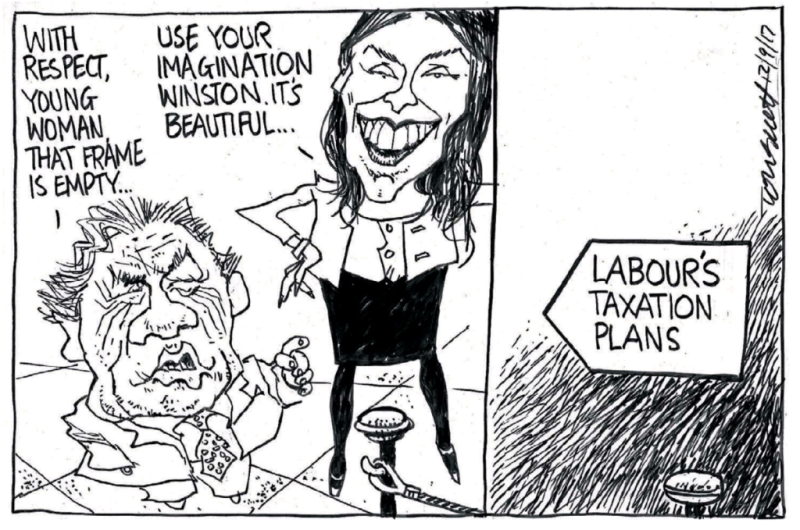 Scott - Dominion Post 12 September 2017 tax Jacinda Ardern Labour