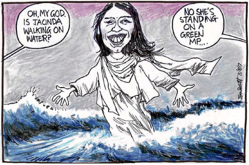 Scott - Dominion Post 8 August 2017 Jacinda Ardern Labour Greens