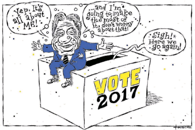 Hodgson - Dominion Post 25 September 2017 Winston Peters NZ First election