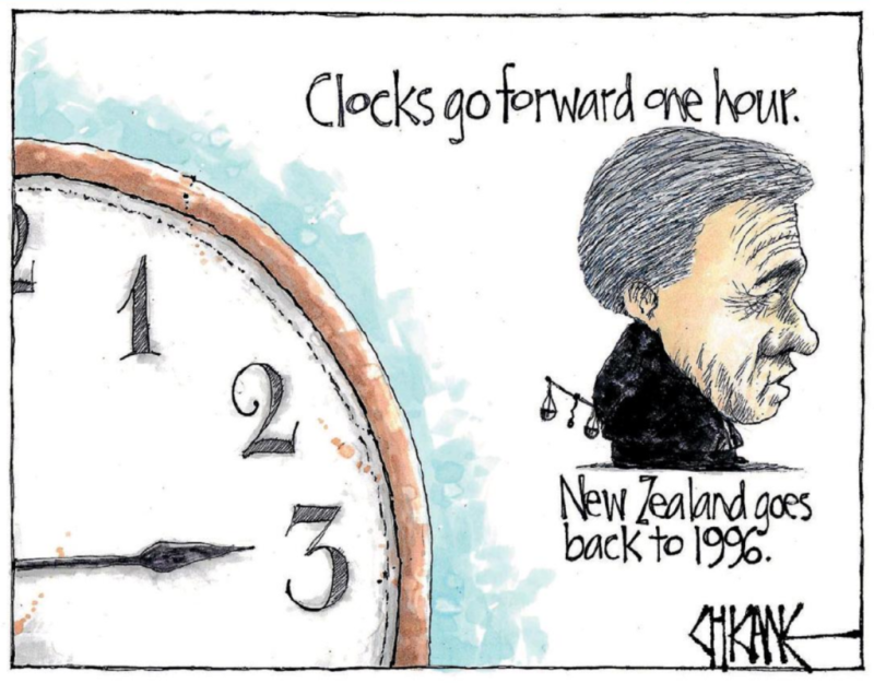 Chicane - Southland Times 25 September 2017 Winston Peters NZ First post-election