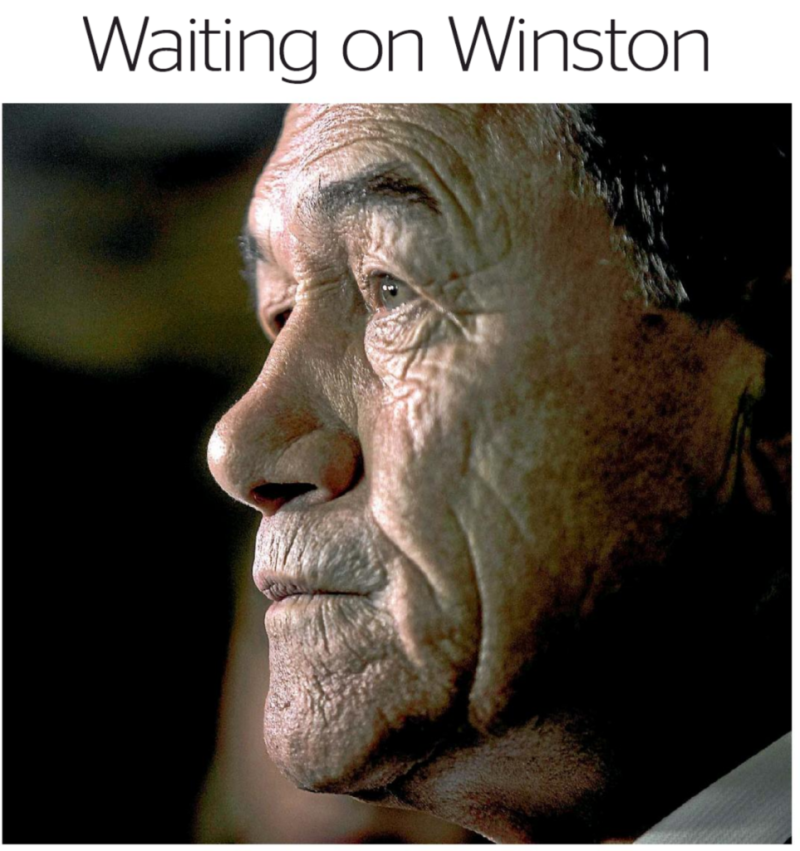 Waiting on Winston - The Press 25 September 2017 Winston Peters NZ First