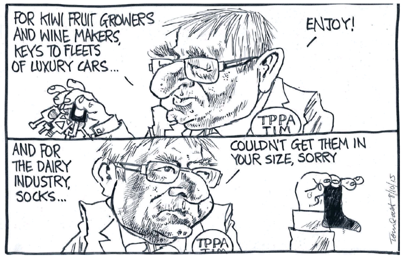 Scott - Dominion Post 8 October 2015 TPPA Groser