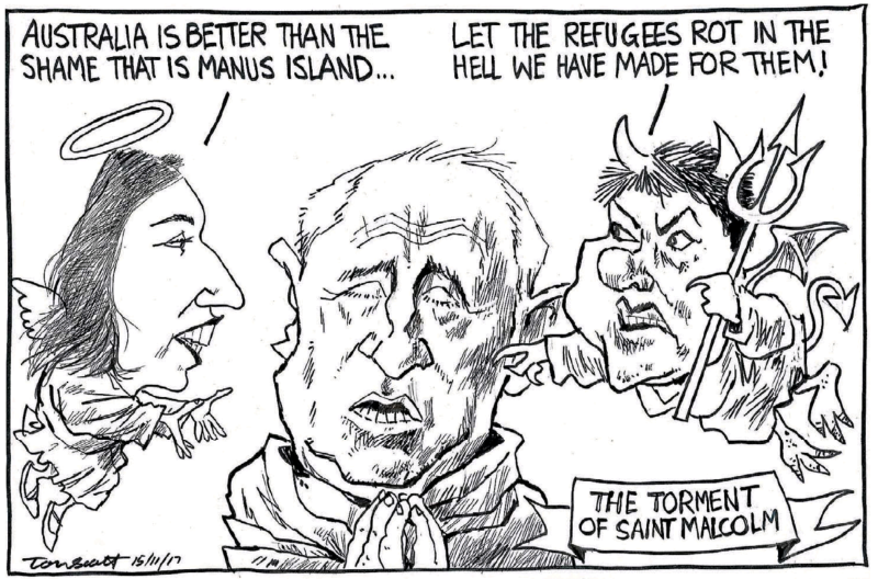 Scott - Dominion Post 15 November 2017 refugees Jacinda Ardern Australia