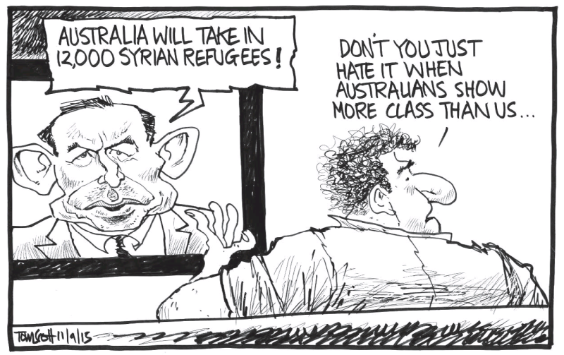 Scott - Dominion Post 11 September 2015 refugees Australia