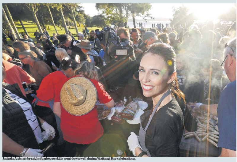 NZ Herald 7 February 2018 Jacinda Ardern Waitangi Day