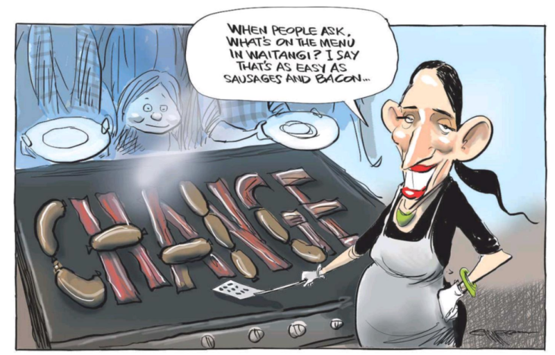 Emmerson - NZ Herald 7 February 2018 Jacinda Ardern Waitangi