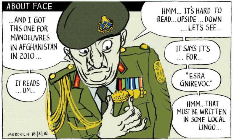 Murdoch - Sunday Star Times 18 March 2018 Afghanistan military war