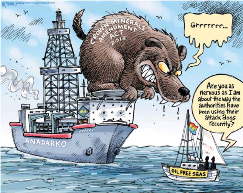 Moreu - Nelson Mail 22 November 2013 oil environment