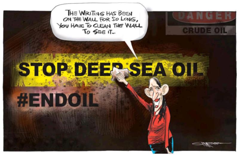 Emmerson - NZ Herald 13 April 2018 Ardern Labour oil environment
