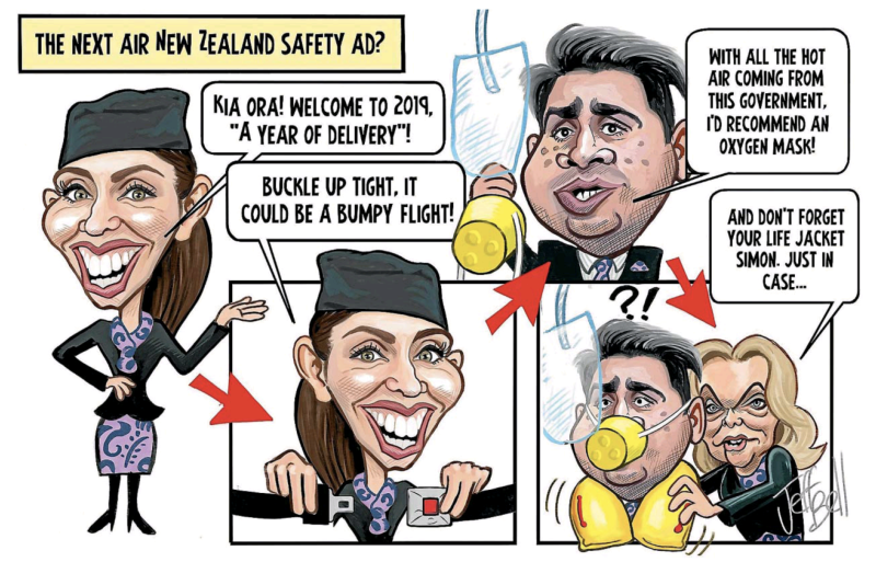 Bell - Stuff 4 February 2019 Ardern Bridges Collins