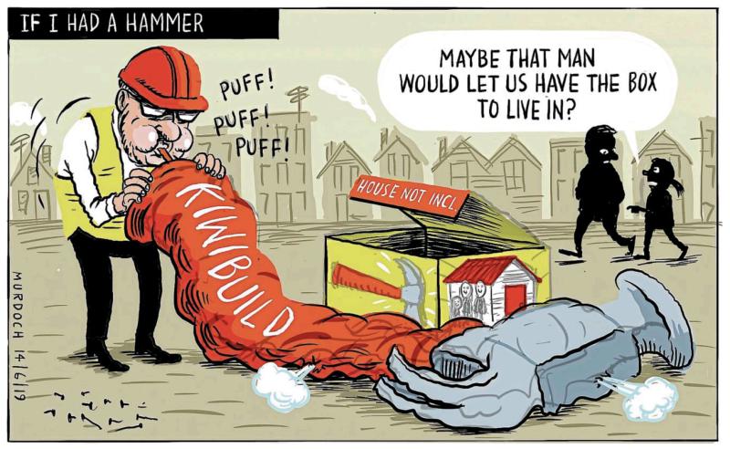 Murdoch - Stuff 14 June 2019 Housing KiwiBuild Labour Twyford