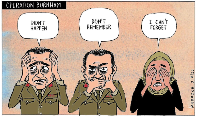 Murdoch - Sunday Star Times 2 August 2020 hit run Afghanistan hager