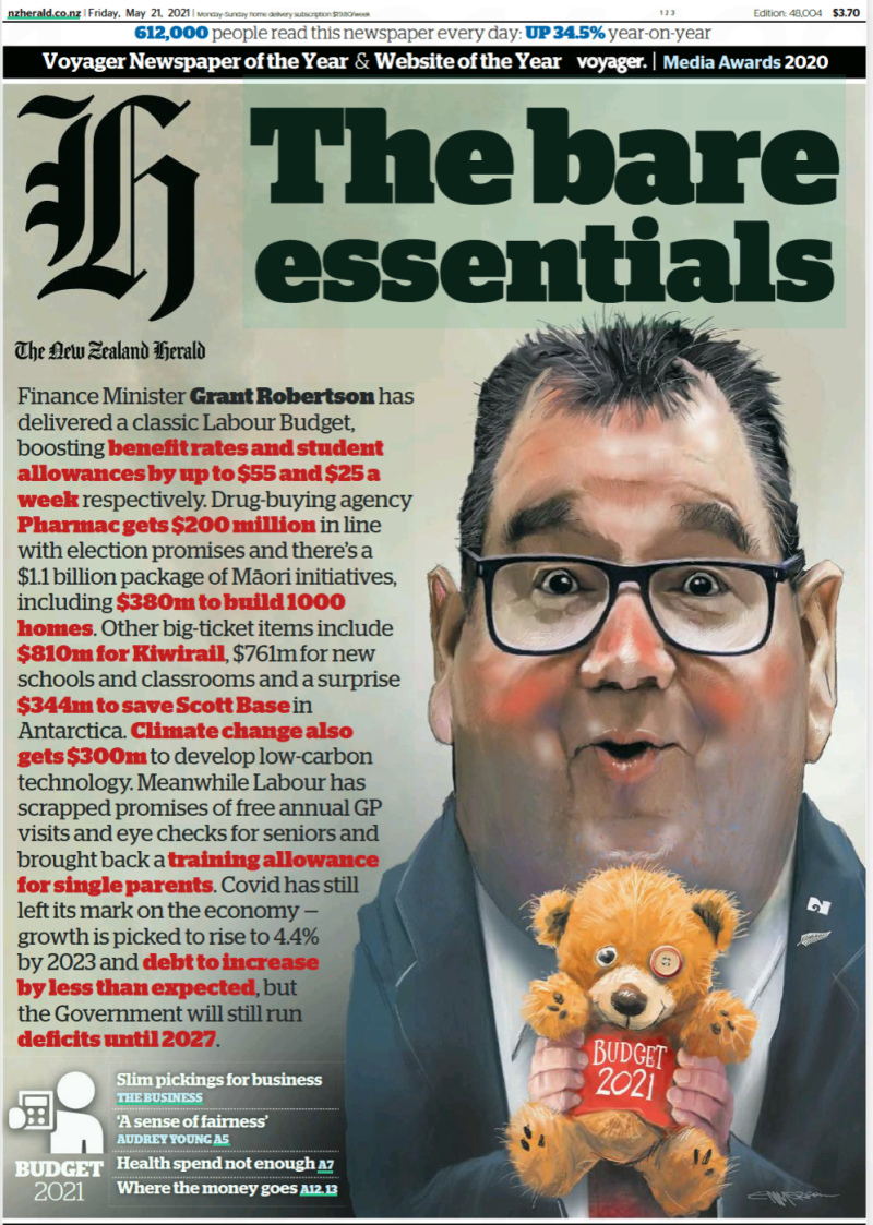 Herald frontpage